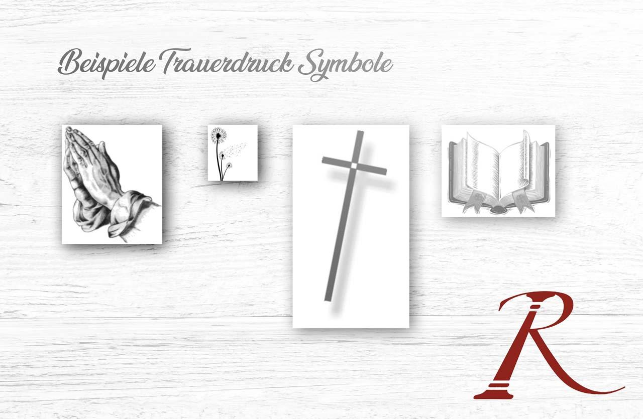 Beispiele Trauerdruck Symbole